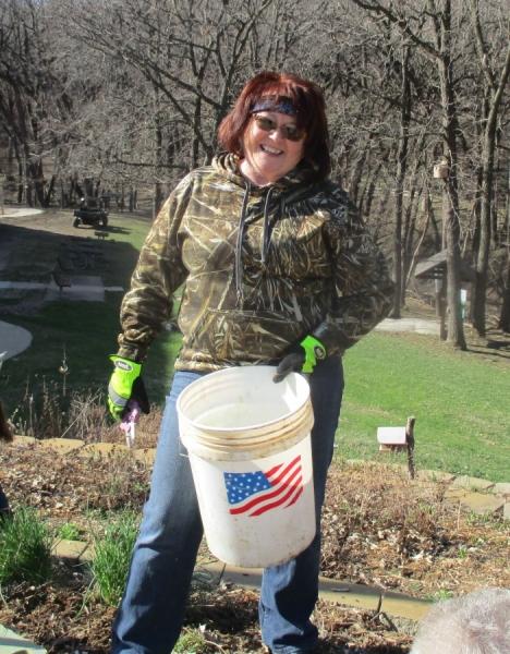 Becky-garden-cleanup